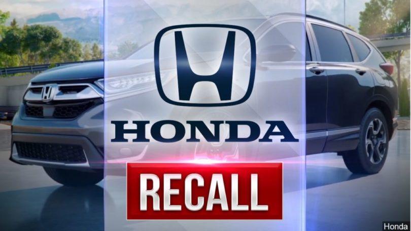 Honda Recalls 1.6M vehicles to replace Takata Airbags