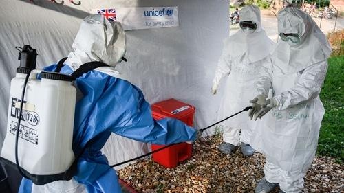 Medical staff of an Ebola Treatment Unit