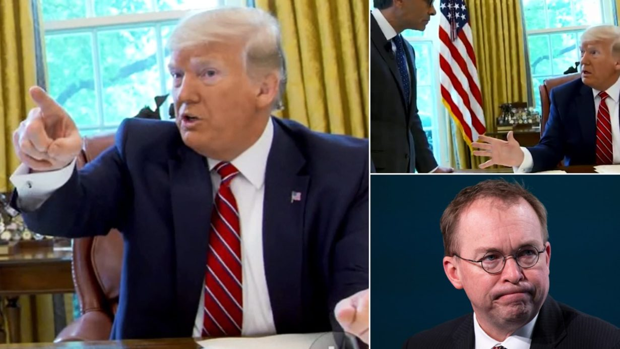 Mickey Mulvaney Asked to leave Oval Office