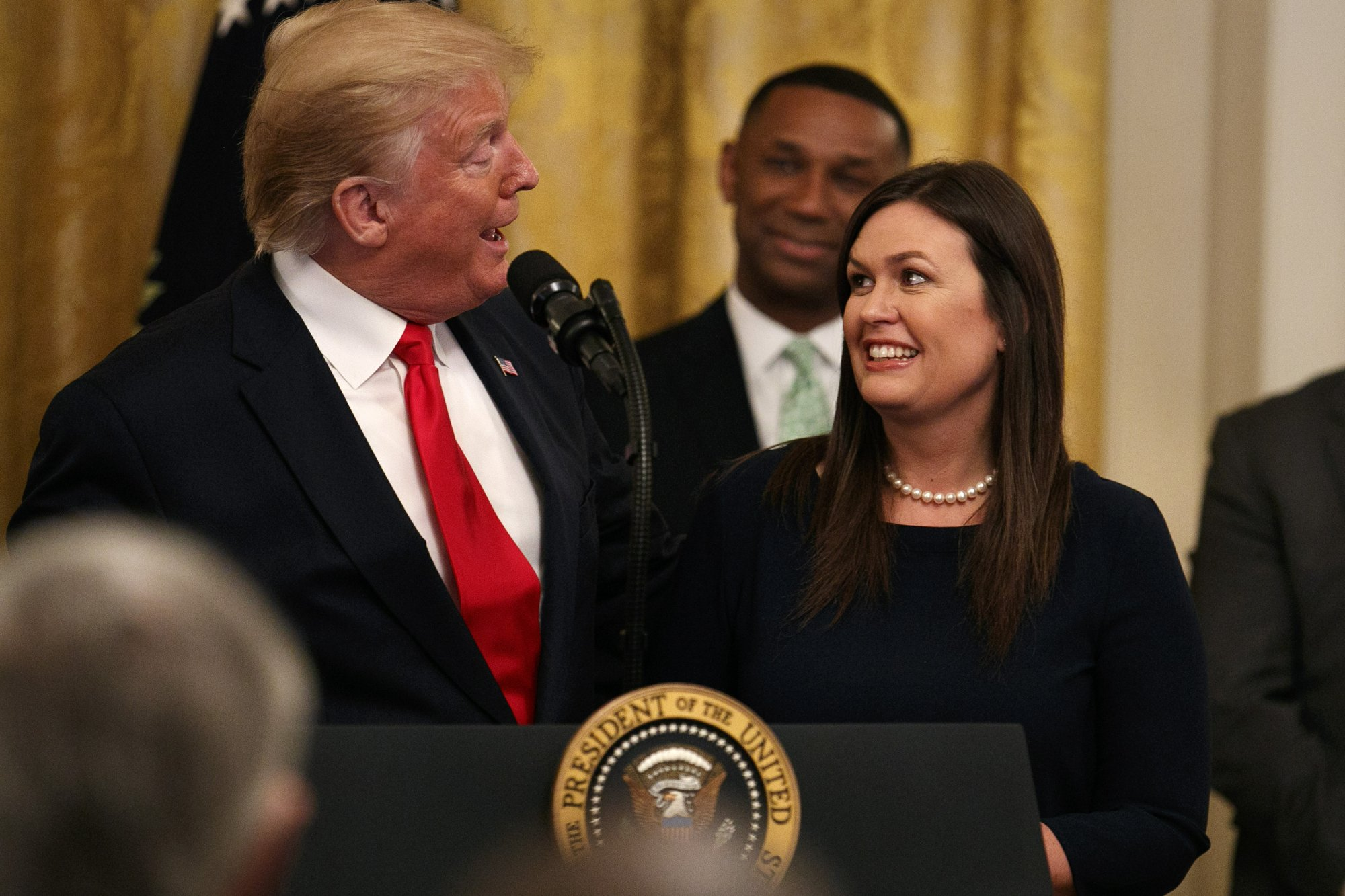 Trump pays tribute to Sarah Sanders