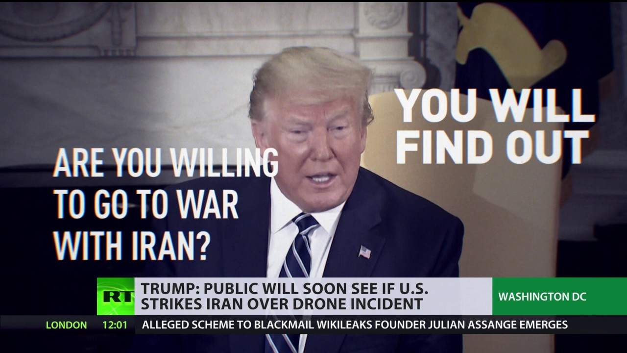 'You'll soon find out' Whether Will US strike Iran - Trump