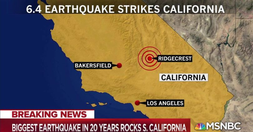 Earthquake Strikes Southern California with 6.4 Magnitude