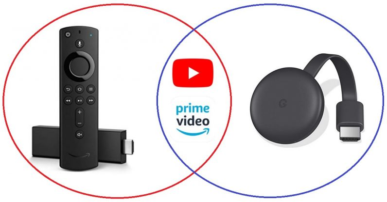 Fire TV includes YouTube Videos and Amazon Prime on Chromecast
