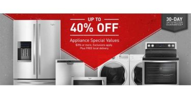 Home Depot Offers 40% Discount on Home Appliances