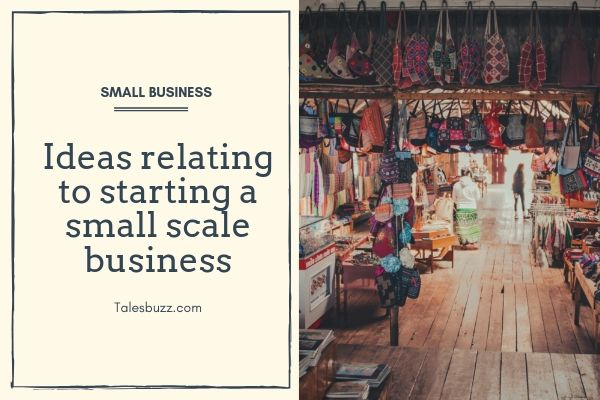 Ideas relating to starting a small scale business | Talesbuzz