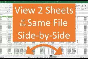 Split Screen function in Microsoft Excel