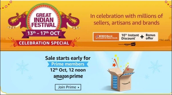 Amazon Great Indian Festival 2019 Diwali SaleAmazon Great Indian Festival 2019 Diwali Sale