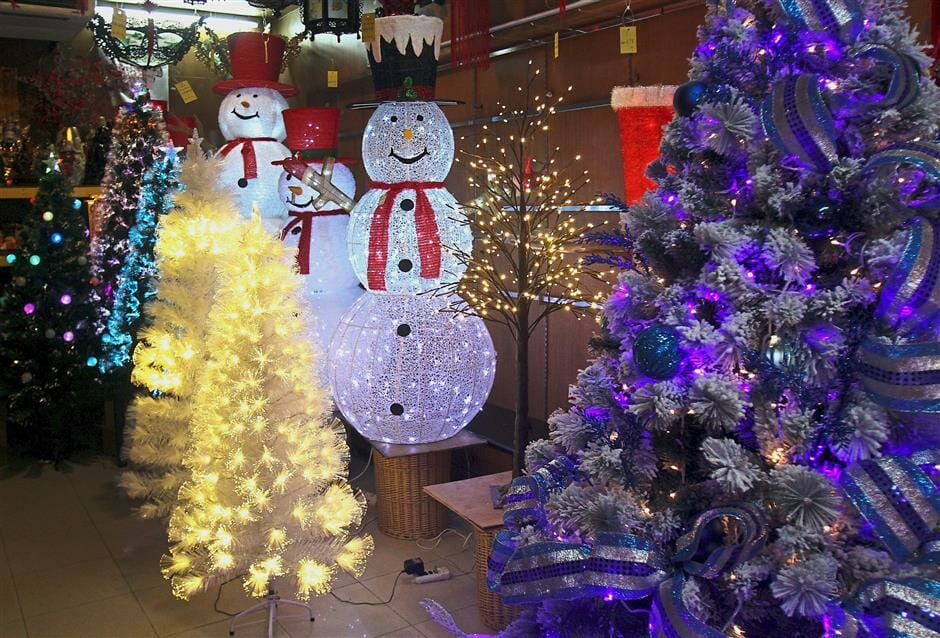 Christmas Tree & Other Decorative Items